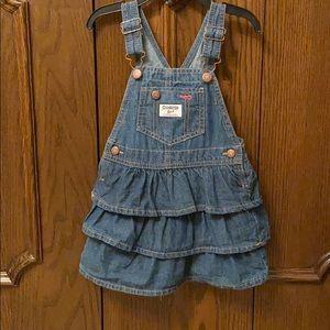 OshKosh B'gosh denim ruffle dress size 3T